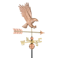 American Bald Eagle Weathervane - Polished Copper