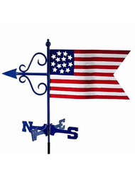 Weathervane - Americana Flag Garden Size