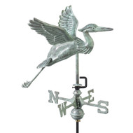 Weathervane - Blue Heron Garden Size - Blue Verde Copper