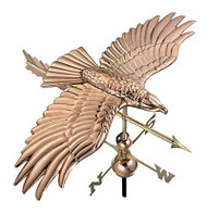 Good Directions Soaring Hawk Weathervane - Polished Copper
