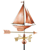 Racing Sloop with Arrow Weathervane