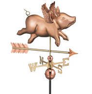 Flying Pig with Arrow Weathervane
