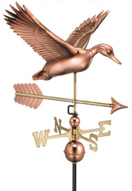 Flying Duck with Arrow Weathervane