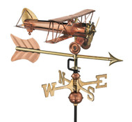 Biplane with Arrow Cottage Weathervane