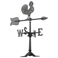 "Accent Rooster  Weathervane  by Whitehall 24""  – Black"