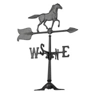 "Whitehall 24""  Accent Horse Weathervane - Black"