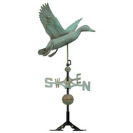 "Whitehall 24"" Copper Duck Weathervane - Verdigris"
