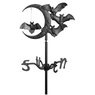 "Whitehall 17.5"" Halloween Bat Garden Weathervane - Black"