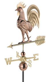 Proud Rooster Weathervane  by Good Directions - 1937B - Pure Copper & Brass