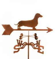 Dog-Daschund Weathervane with mount