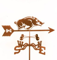 Arkansas Razorbacks Logo Weathervane with mount
