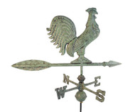 Rooster Small Verdigris Aluminum with Traditional Directionals