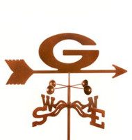 "Georgia ""G"" Bulldogs Logo Weathervane with mount"