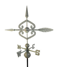 Scrolled Arrow Large Verdigris Aluminum with Traditional Directionals