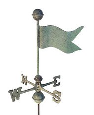 Banner Small Verdigris Aluminum with Traditional Directionals