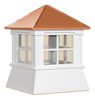 Cupola - Manor Shed: Azek – Windowed Copper Top - 25Lx25Wx30H
