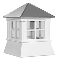 Cupola - Manor Shed: Azek – Windowed Metal Top - 21Lx21Wx23H
