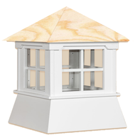 Cupola - Manor Shed: Azek – Windowed Wood Top - 16Lx16Wx18H