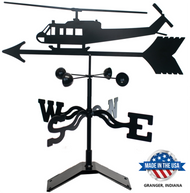 Bell UH-1 Huey Helicopter Weathervane With Mount (Black)
