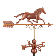 Galloping Horse Weathervane - Pure Copper Hand Finished Bronze Patina by Good Directions