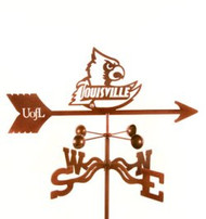 Louisville Cardinals Logo Weathervane With Mount