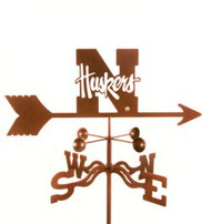 Nebraska Huskers Logo Weathervane With Mount