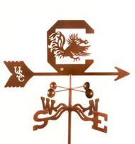 South Carolina Gamecocks Logo Weathervane With Mount