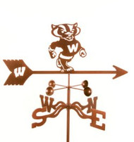 Wisconsin Badgers Logo Weathervane With Mount