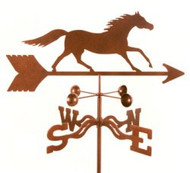 Horse-Running Horse Weathervane With Mount