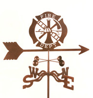 Fire Department Weathervane With Mount