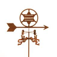 Sheriff Badge Weathervane With Mount