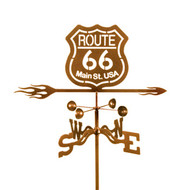Route 66 Logo Weathervane With Mount