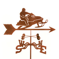 Snowmobile Weathervane With Mount
