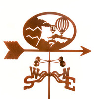 Hot Air Balloon Weathervane With Mount