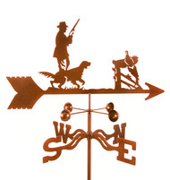 Hunter w/ Dog Weathervane With Mount
