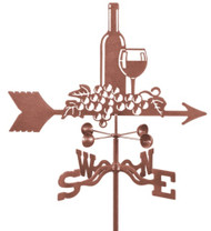 Wine & Grapes Weathervane With Mount
