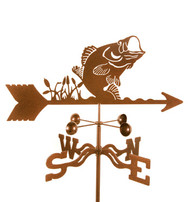 Fish-Bass Weathervane With Mount
