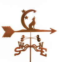 Coyote with Moon Weathervane With Mount