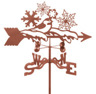 Snowflake Weathervane With Mount