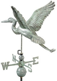 Good Directions Blue Heron Weathervane - Blue Verde Copper