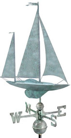 Good Directions Yawl Weathervane - Blue Verde Copper