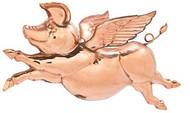 Polished Hanging Flying Pig
