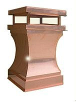 Copper Chimney Pot - Curved  22 in. x 35 in.