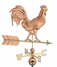 Rooster Weathervane by Good Directions Smithsonian 953P - Polished Copper