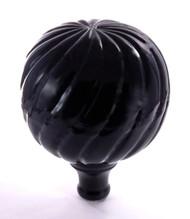 Finial - Medium Parisian- Black Gloss