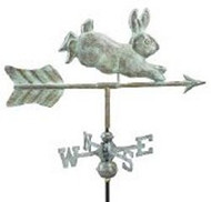 Weathervane - Rabbit- Copper  Verde With Mount