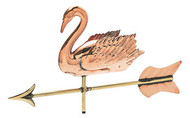 Weathervane - Polished - 3-D Cottage Swan