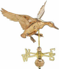 Weathervane - Polished Cottage Landing Duck