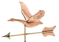 Weathervane - Polished - Cottage Goose w/ Arrow