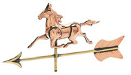 Weathervane - Polished - Cottage 3-D Horse w/ Arrow